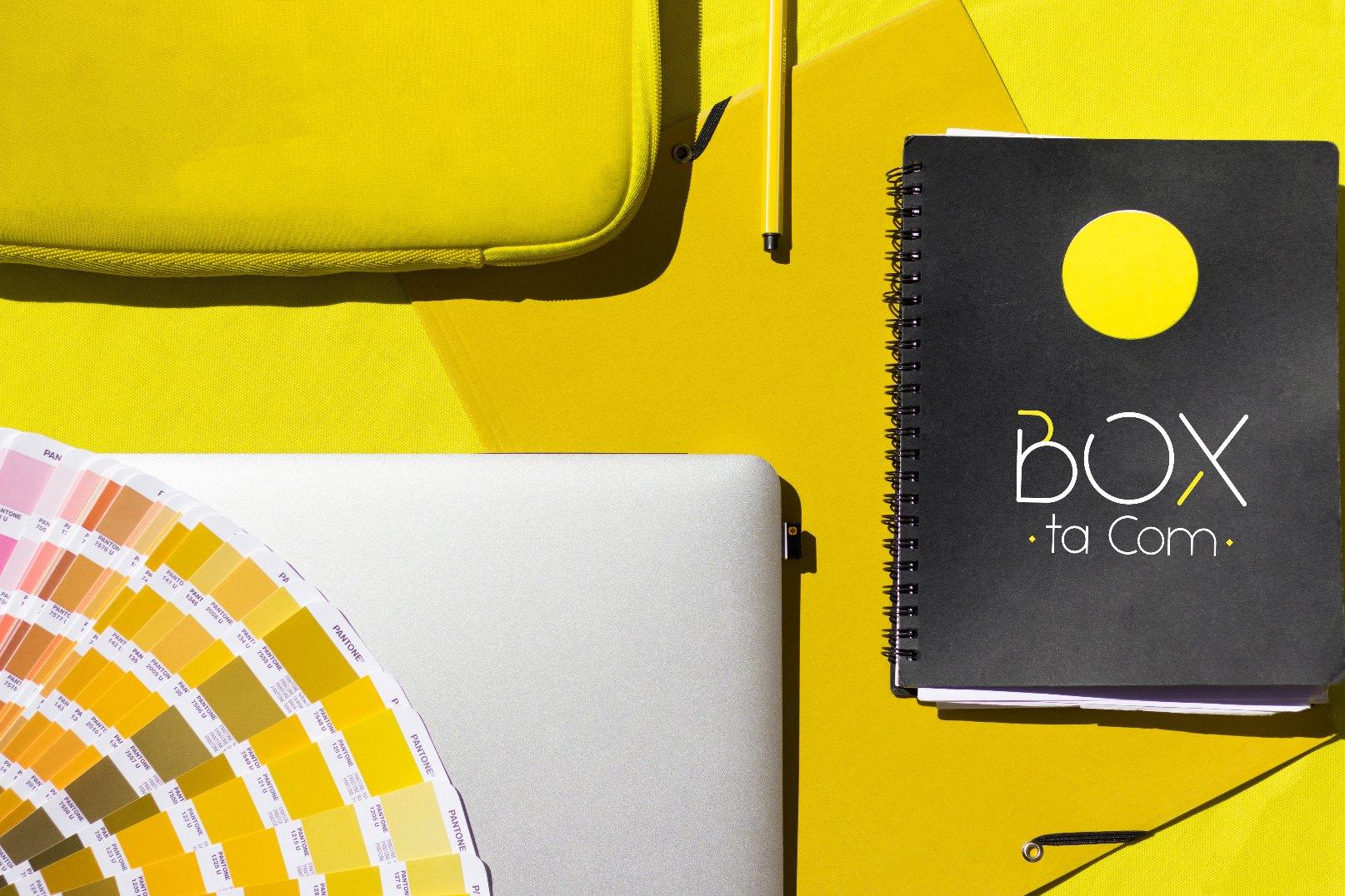 La graphiste de l'agence de communication s'occupe de votre univers graphique sur Boxtacom